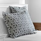 Happy Hearts Standard Sham, Black