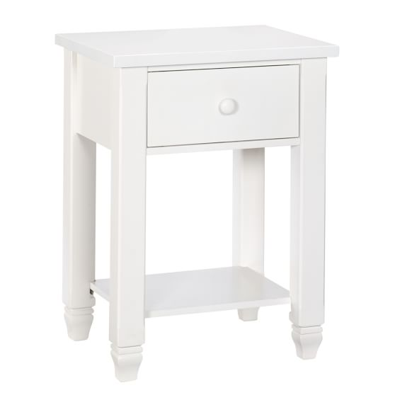 Parker Bedside Table, White