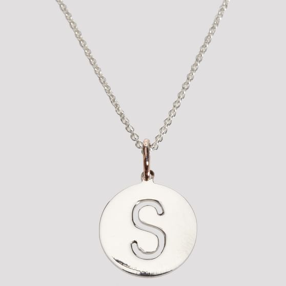 Sarah Chloe Cut-Out Necklace, Silver