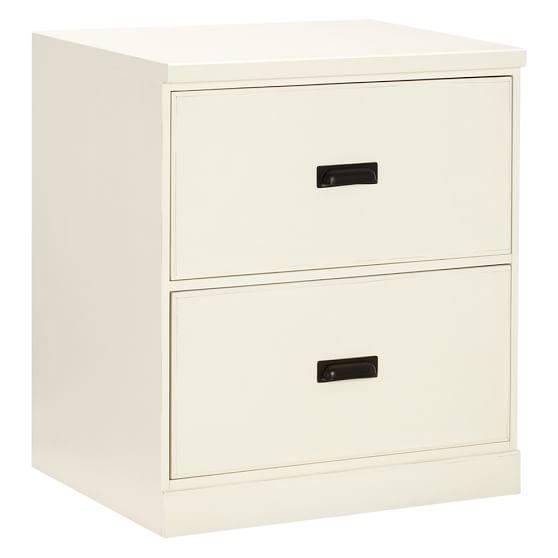 Paramount 2-Drawer Cabinet, Antique White