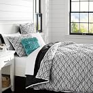 Quincy Scallop Super Pouf Comforter, Twin/Twin XL, Black
