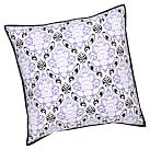Decorator Damask Euro Sham, Purple/Black