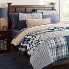 Ocean Patchwork Quilt, Twin, Navy