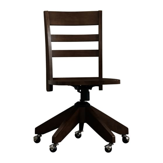 Swivel Desk Chair, Dark Espresso