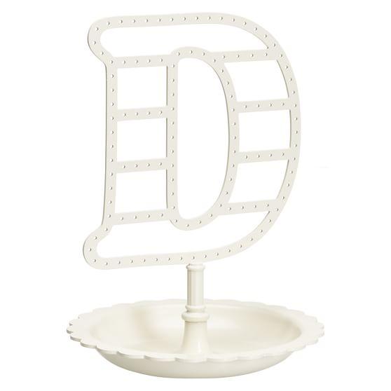 Alphabet Earring Holder, D