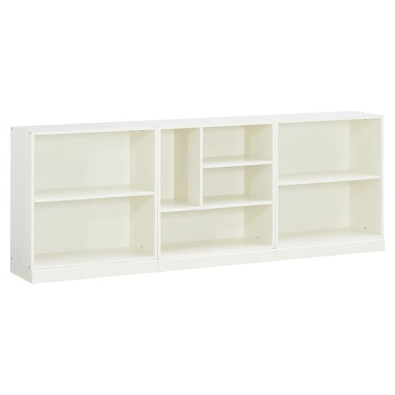 Stack Me Up Low Bookcase Set, Antique White