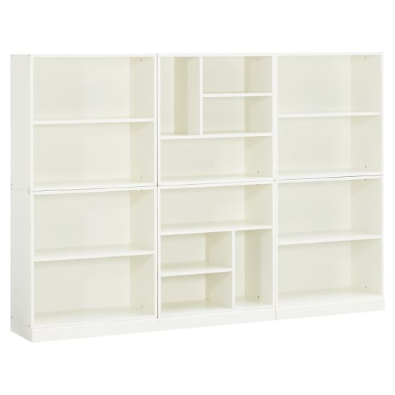 Stack Me Up 6 Cubby + 2 Shelf Set, Antique White