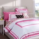 Suite Organic Duvet Cover, Twin, Bright Pink