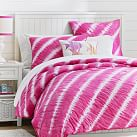 Tahiti Tie Dye Quilt, Twin, Pink Magenta