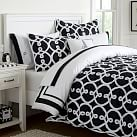 Totally Trellis Comforter, Twin, Black
