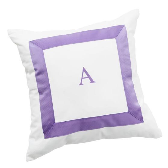 Suite Ribbon Pillow Cover, Purple