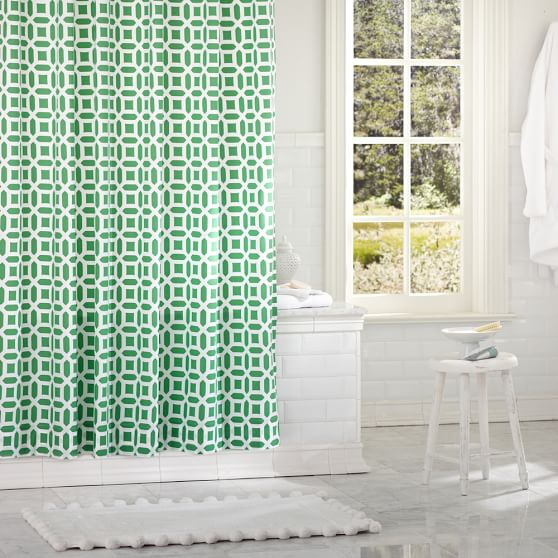 Peyton Shower Curtain, Green