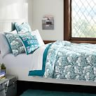 Gemma Floral Reversible Super Pouf Comforter, Full/Queen, Sea Blue