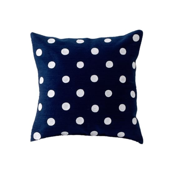 Dottie Pillow Cover, Navy, 16x16