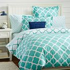 Lucky Clover Reversible Duvet Cover, Twin, Pool