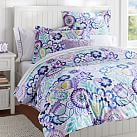 Flower Burst Duvet Cover, Twin, Cool