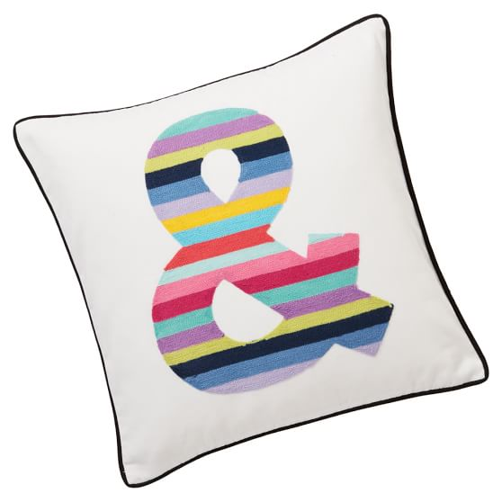 Fun Stripes Pillow Cover, 18x18, Ampersand