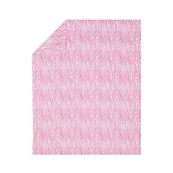 Zebra Duvet Cover, Twin, Bright Pink