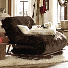 Futon Set, Twin, Luxe Fur Brown Faux Fur