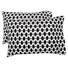 Ikat Dot Organic Pillowcases, Standard, Set of 2, Black