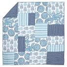 Adele Patchwork Quilt, Twin, Blue Multi