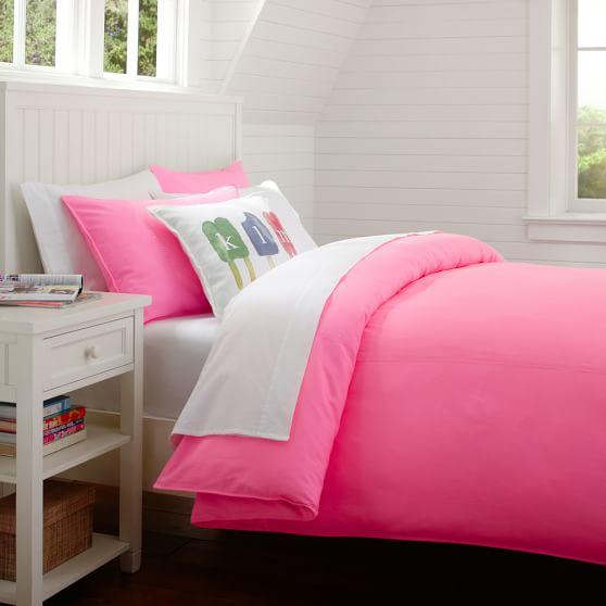 Color Wash Surf Duvet, Twin, Hot Pink