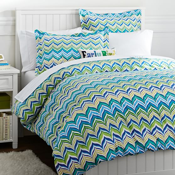 Newport Wave Duvet Cover, Full/Queen, Cool