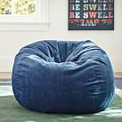 Navy Wide Wale Cord Beanbag, Large, Slipcover Only
