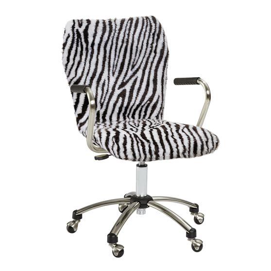 Zebra Fur Airgo Arm Chair