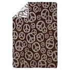 Peace Out Recycled Throw, Coffee