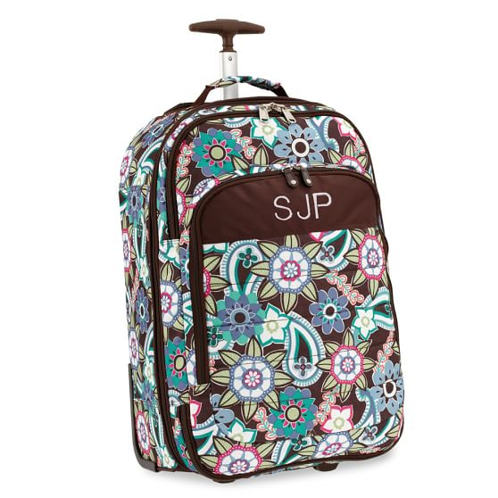 Ocean Floral Jet-Set Rolling Carry-On Suitcase, Cool