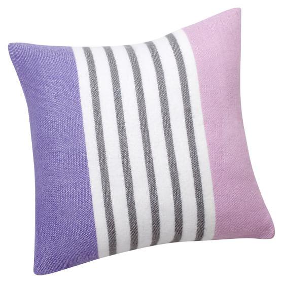 Pattern Play Pillow Cover, 16x16, Purple Stripe