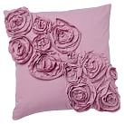 Rose Pillow Cover, 16''x16'', Light Mauve