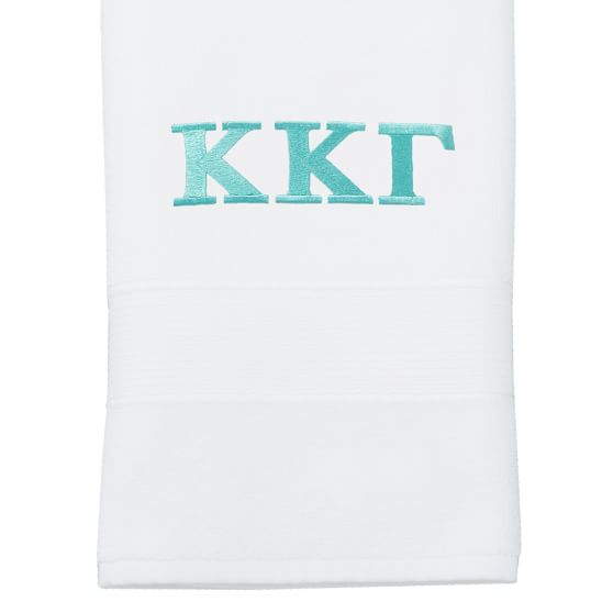 Greek PBdorm Basic Hand Towel, White