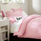 Petal Dot Duvet, Twin, Bright Pink