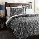 Camo Duvet Cover, Twin, Black