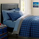Breckenridge Plaid Quilt, Twin, Navy