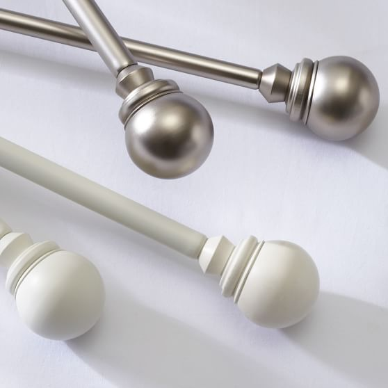 Colored Ball Finials, Set of 2, White