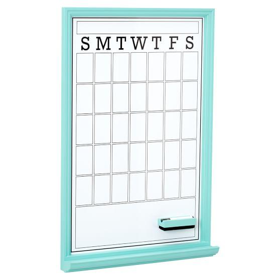 Study Wall Boards, Single, Dry Erase Calendar, Pool