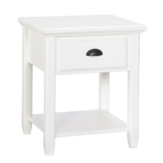 Chatham Bedside Table, Antique White