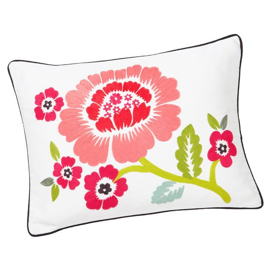 Classic Decorator Floral Pillow Cover, Warm
