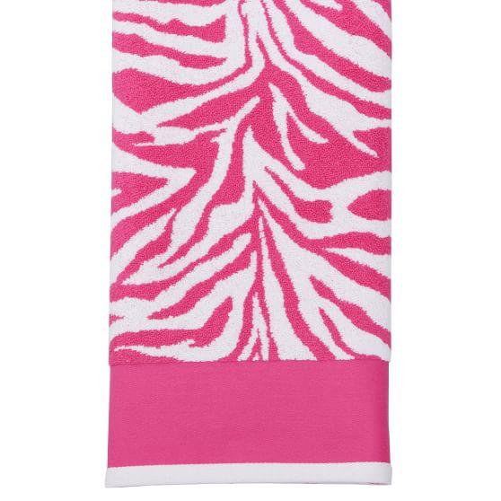 Funky Zebra Washcloth, Pink Magenta