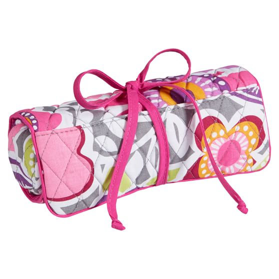 Quilted Makeup Roll, Laura Floral