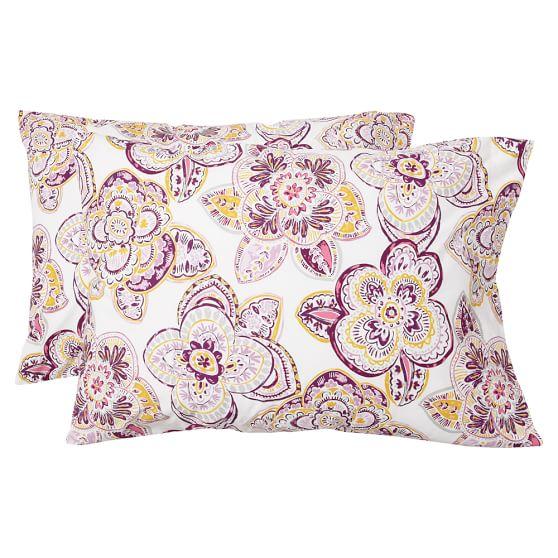Austen Medallion Extra Pillowcases, Set of 2, Warm