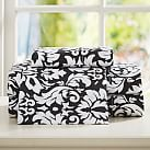 Damask Sheet Set, Twin XL, Black