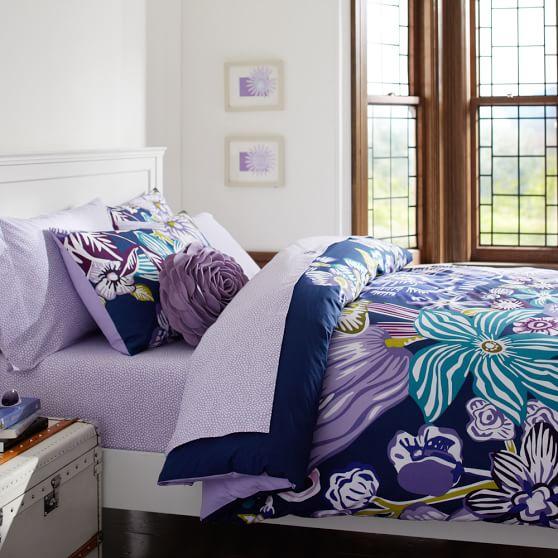Jolie Duvet Cover, Twin, Purple Multi