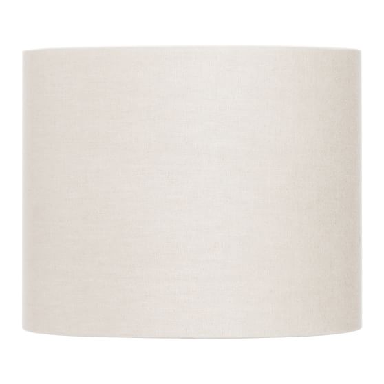 Solid Drum Shade, White