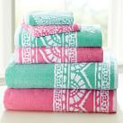 Serena Bath Towel, Pink Multi