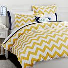 Chevron Duvet Cover, Full/Queen, Yellow