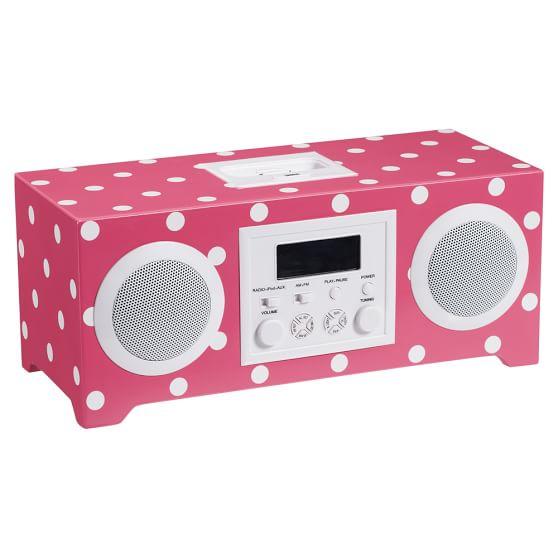 Dottie Rockin Alarm Clock, Pink Magenta